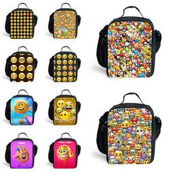 Insulated  Emoji Backpack Thermal Cooler Lunch Box Bento Sto