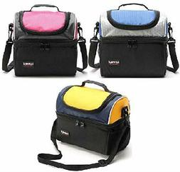Insulated lunch bag: high quality cute Double deck  Lunch Bo