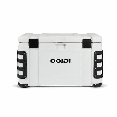 Igloo 00048491 Leeward 50 Quart Grade Ice Chest Cooler, White