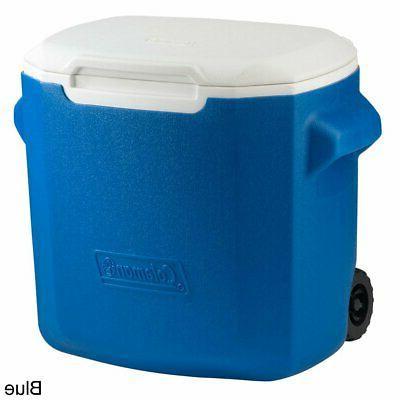28 quart wheeled cooler