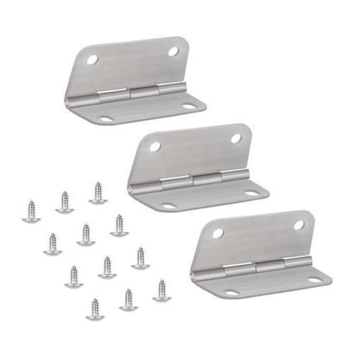 3PCS Replacement Cooler Hinges and Screws Set Stainless Stee
