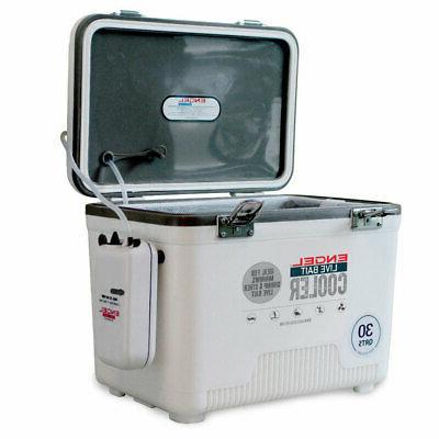 Engel Live Bait Coolers White w/ Net 30 Qt ENGLBC30-N