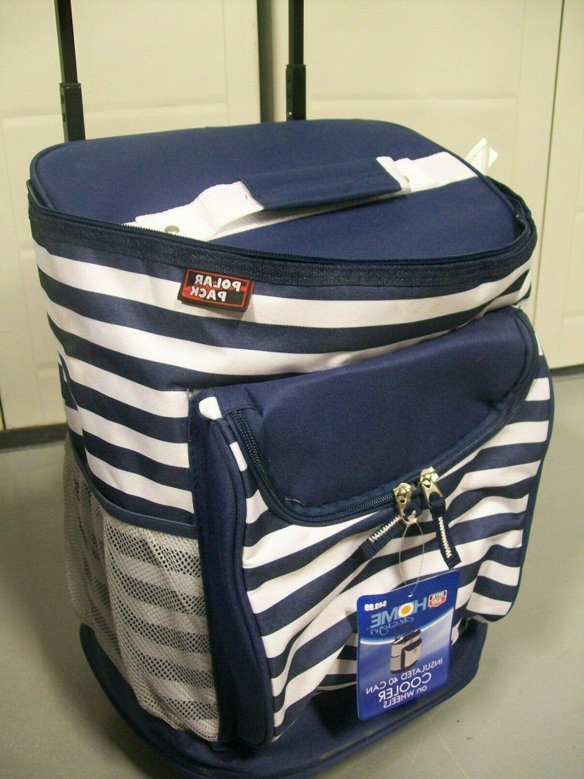 POLAR PACK 40 Can Cooler on Wheels Insulated Picnic Bag Insu