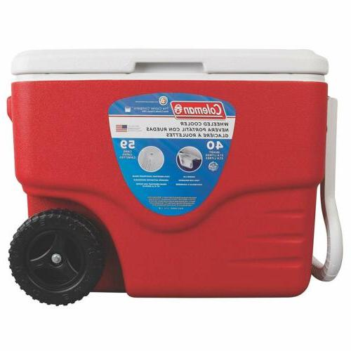 40-Quart Coleman 40-Quart Wheeled Cooler