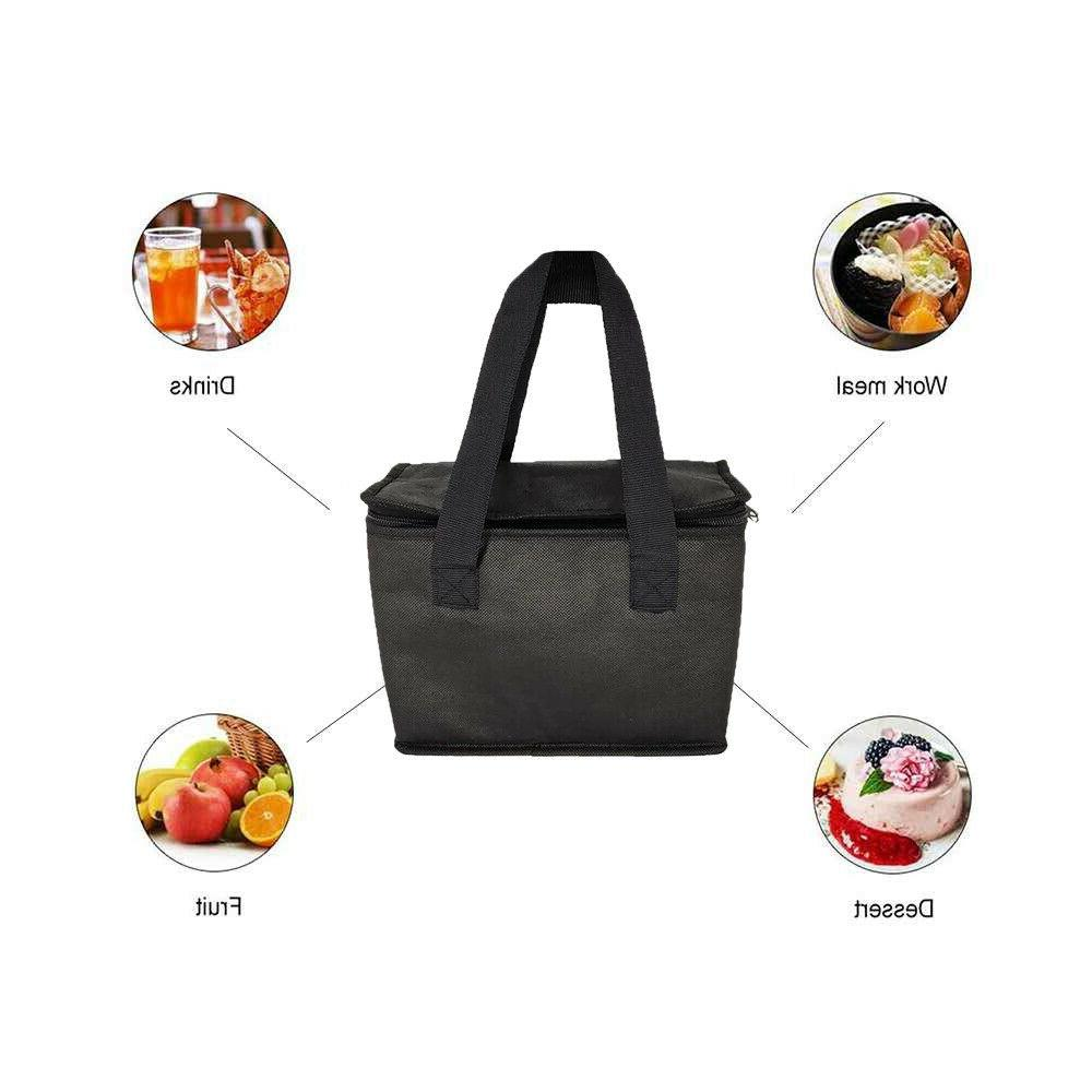 4Set Cooler Grocery Lunch with Dual Zipper Closure