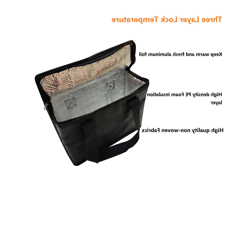 4Set Insulated Cooler Grocery Dual Zipper Closure