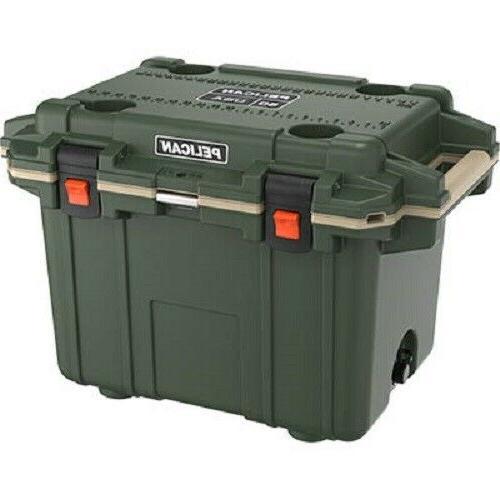 50q2odtan 50 quart elite cooler green tan