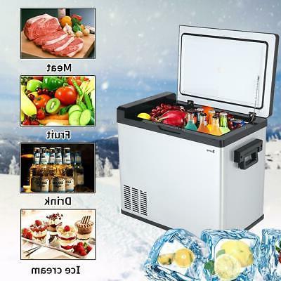 54 Qt Portable Mini Fridge Freezer Car Refrigerator Cooler E