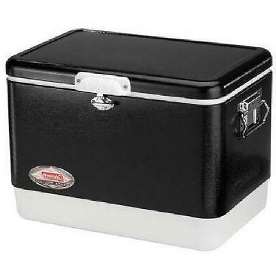 Coleman 54 Quart Steel Belted Portable Cooler, Black