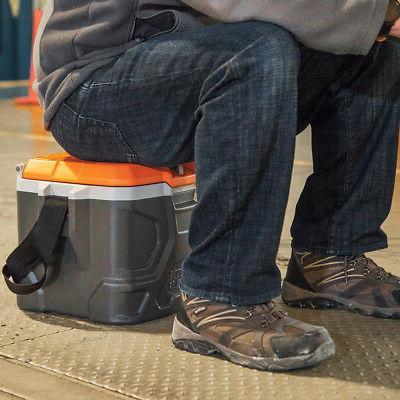 Klein 55600 17 Tradesman Tough Hard Cooler, Gray