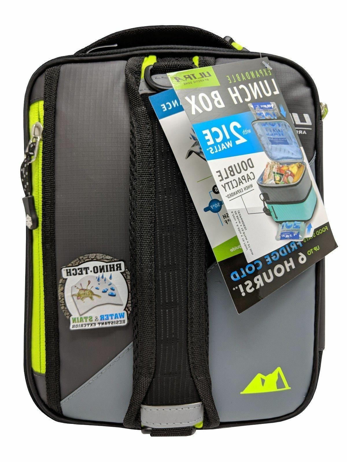 Carry Insulated Box Bento Cooler Bag Thermal Packs Expandable