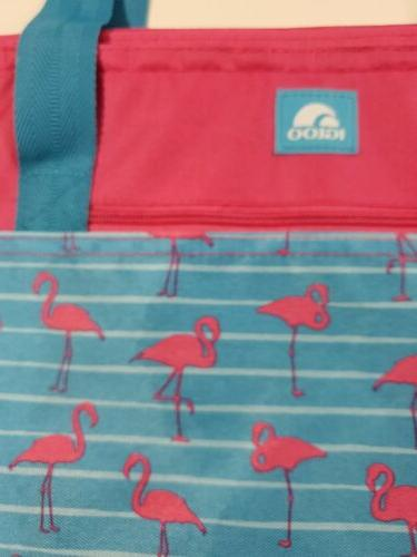 Igloo Cooler 30 Can Insulated Flamingos Pink Blue