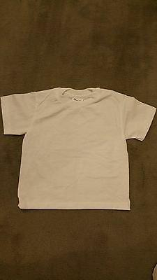 HANES HEAVYWEIGHT 50/50 WHITE T-SHIRTS BOYS/GIRLS SIZE SMALL