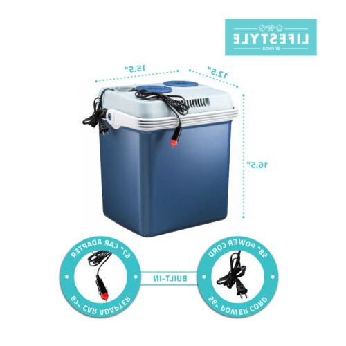 Lifestyle 27 Quart Cooler/Warmer and Cords