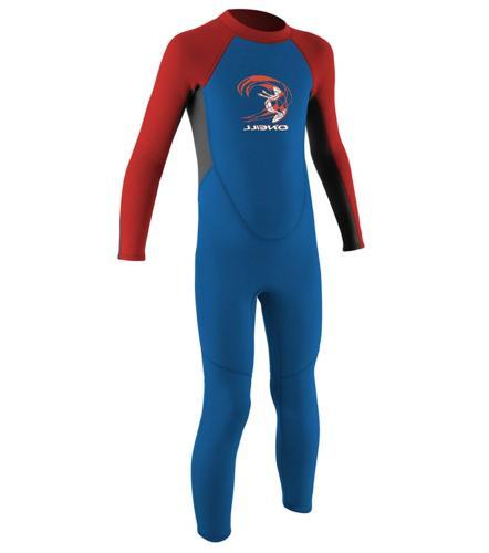 O'Neill Toddler Reactor-2 2mm Back Zip Full Wetsuit, Ocean/G