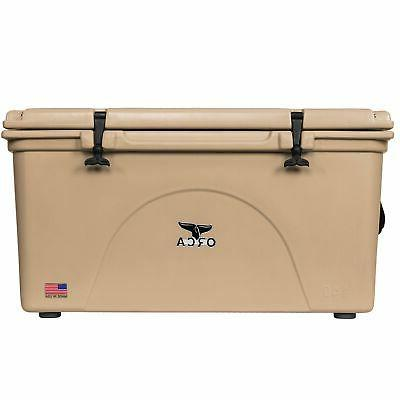 NEW ORCA ORCT140 TAN COLORED 140 QUART INSULATED ICE CHEST C