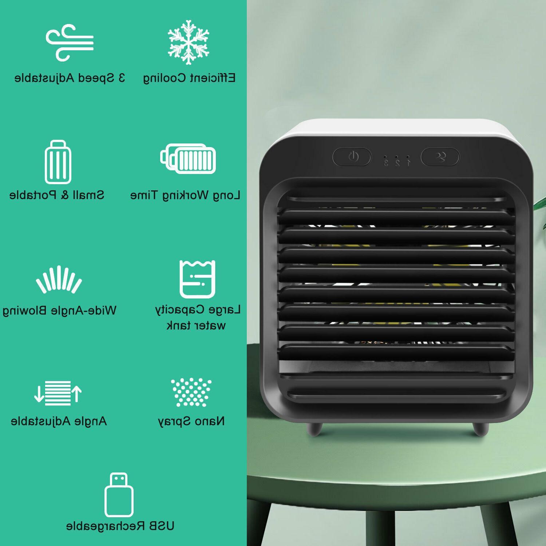 Portable Mini Air Cooler USB Neck Fan