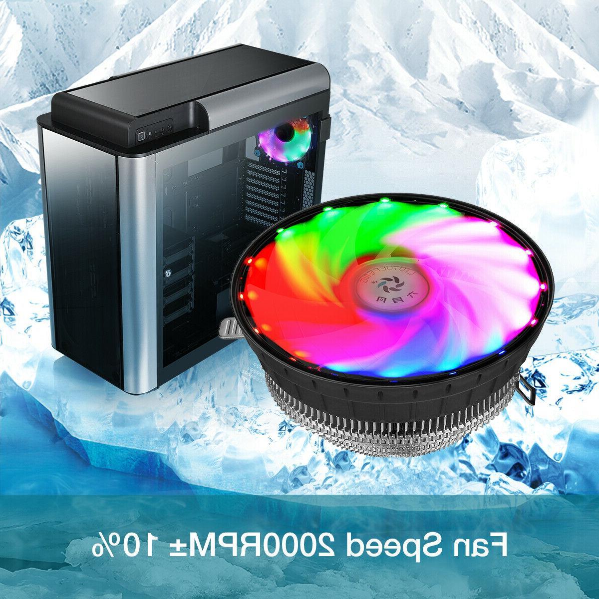 RGB LED CPU Fan Heatsink AM2+