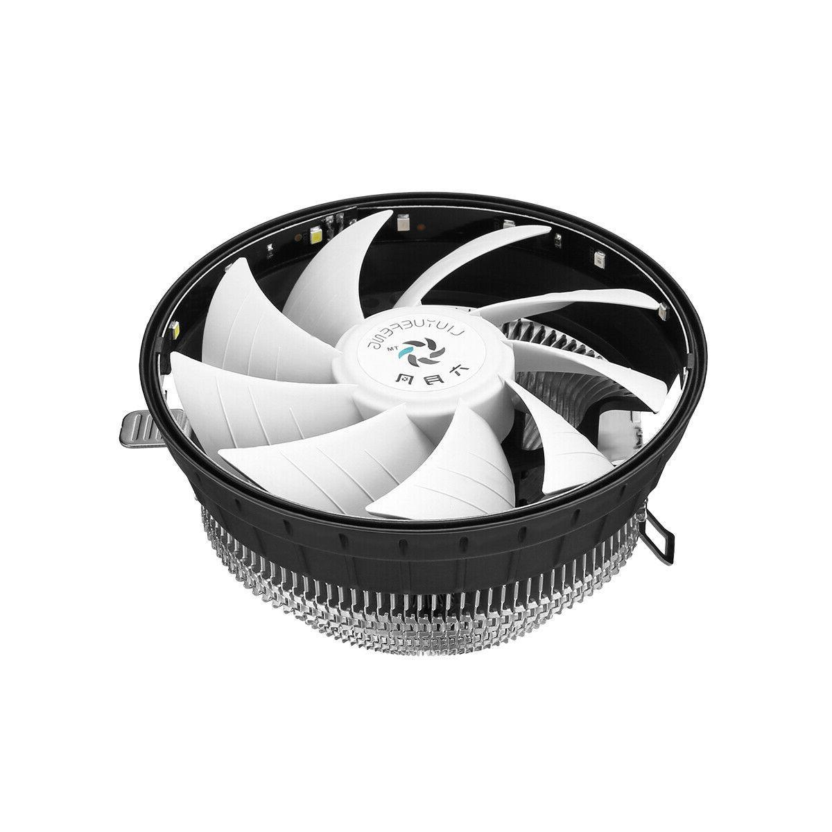 RGB LED CPU Fan Heatsink For Intel 1156/1155/1151/1150 AMD AM2+