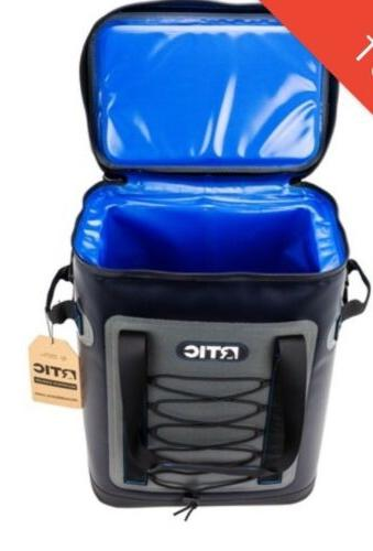 rtic back pack cooler blue grey new