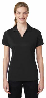 Sport-Tek Women's Polyester Self Fabric Collar Open Placket