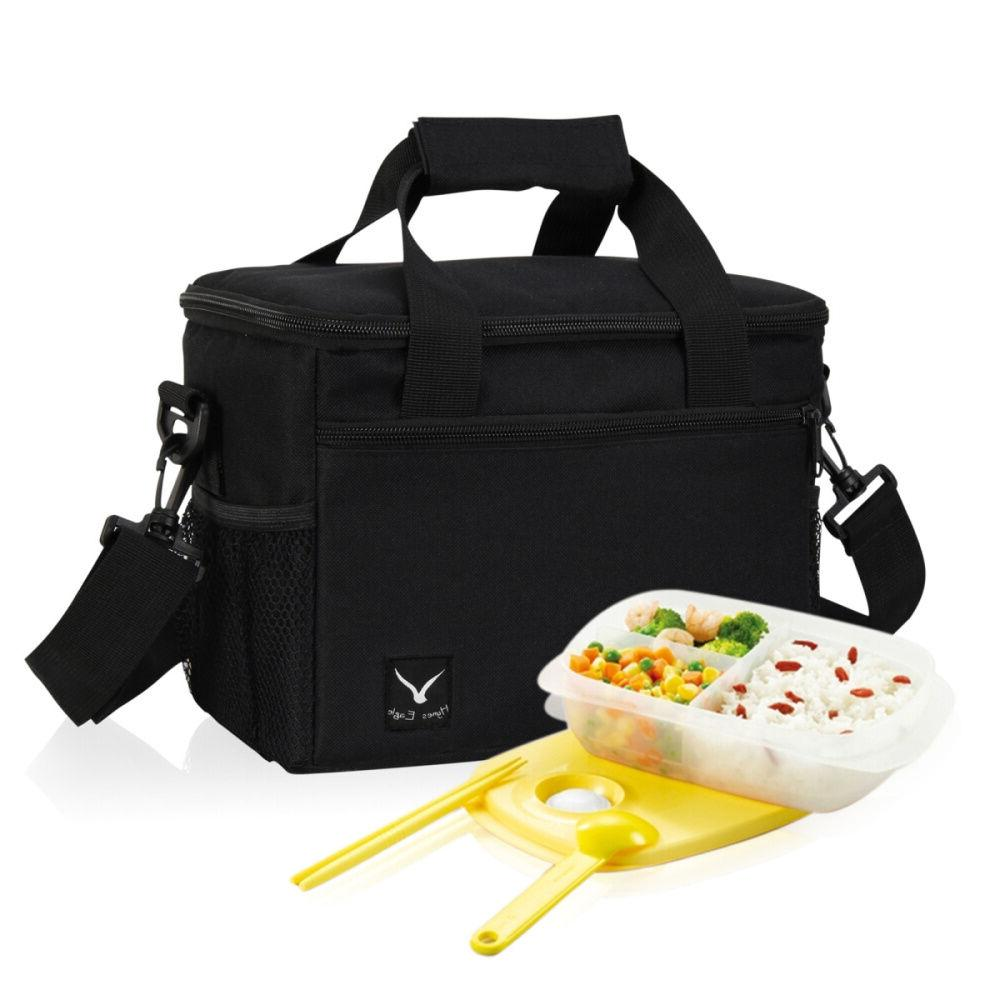 Insulated Thermal Lunch Bag Portable Cooler Storage Box Tray