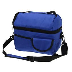 Large Capacity Insulated Square Lunch Bag Cooler Tote Carry