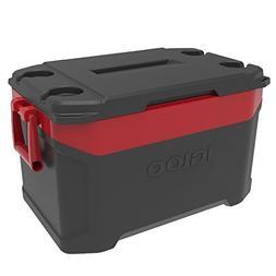 Igloo Latitude 50 quart Cooler, Jet Carbon Red
