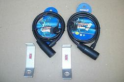 LOT 2 CODYCO ALUMINUM SECURITY LOCK & CABLE BRACKETS FITS OR