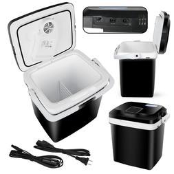 27.5QT Iceless Thermoelectric Cooler Travel Mini 12V Fridge