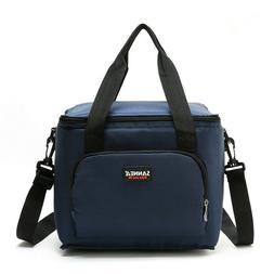 Lunch Box Insulated Lunch Bag Large Double Deck Food Cooler