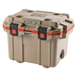 PELICAN Marine Chest Cooler,Hard Sided,30 qt., 30Q-2-TANORG