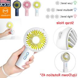Mini Fan USB Rechargeable Portable Handheld Air Cooler Cooli