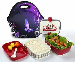Neoprene Portable Travel Picnic Food Bag Insulated Lunch Tot