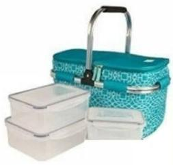New Igloo Party Basket Insulated Cooler Bag with 8 Piece Foo