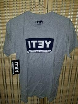 New with Tags! YETI Coolers Gray Graphic Logo Men's T Shirt