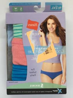 New Hanes Womens Luxuriously Soft Cool & Comfortable Bikinis