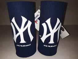 New York Yankees MLB 2 pack Ultra Slim Can Koozie cooler Hug