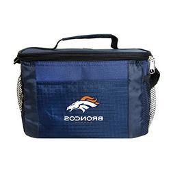 NFL Denver Broncos Insulated Lunch Cooler Bag with Zipper Cl