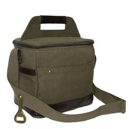 OD Canvas Insulated Cooler Bag Holds A 6-Pack 10 x 10 x 7.5