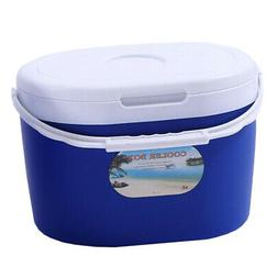 Outdoor Food Drink Ice Chest Cooler with Handle Suitable for
