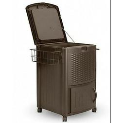 Beverage Cooler Cart Party Portable Deck Patio Ice Rolling D