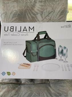 Picnic Time Malibu Insulated Cooler Picnic Beach Bag Basket