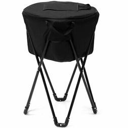 Portable Folding Tub Ice Cooler W/Stand & Travel Bag for Pic