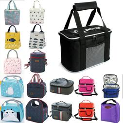 Portable Insulated Lunch Bag Cooler Food Container For Work