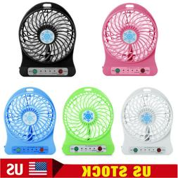 Portable Rechargeable LED Fan air Cooler Mini Operated Desk