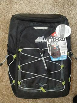 Arctic Zone PRO 24 Can Backpack Cooler Black & Lime Green Co