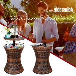 Rattan Cool Bar Wicker Ice Cooler Table Patio Furniture Bist