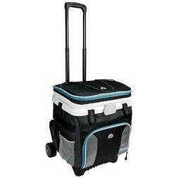 Rolling Cooler On Wheels W Handle Pull 36 Can Insulated Ice