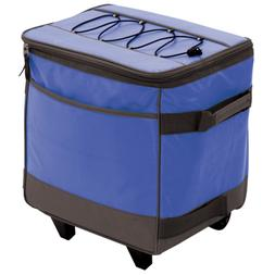Rolling Soft Sided Cooler Insulated Food Storage Carrier 38